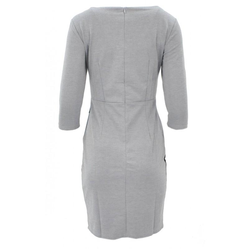 Sukienka z fantazyjną talią (szara)