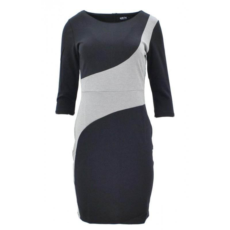 Sukienka z fantazyjną talią (czarna)