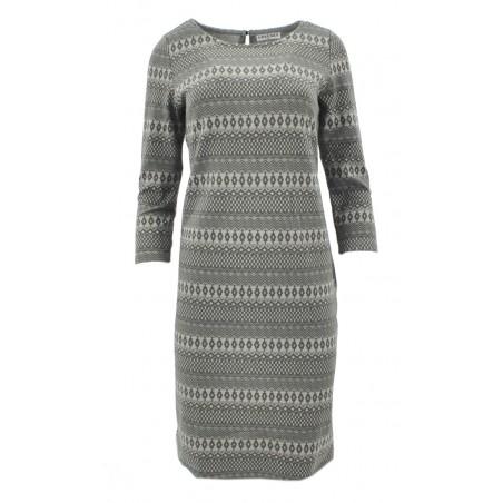 Sukienka z bawełny z kieszeniami (c.szary)