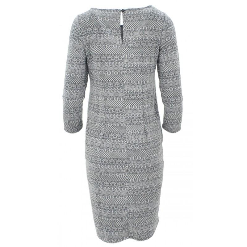 Sukienka z bawełny z kieszeniami (j.szary)