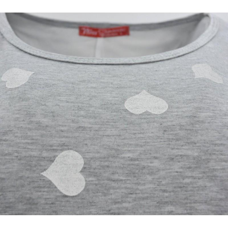 Bluzka w serca z szyfonem (białe serca)