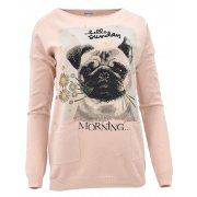Sweter z cekinowym pieskiem (różowy)