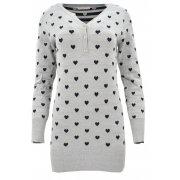 Sweter/sukienka w serca (szary)