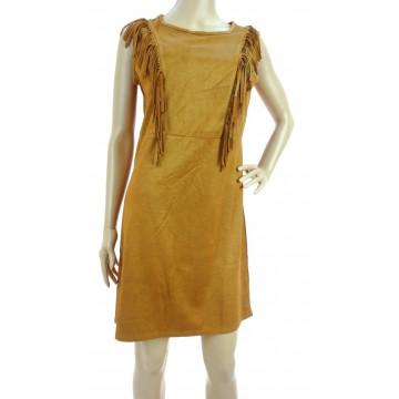 Sukienka zamszowa z frędzlami