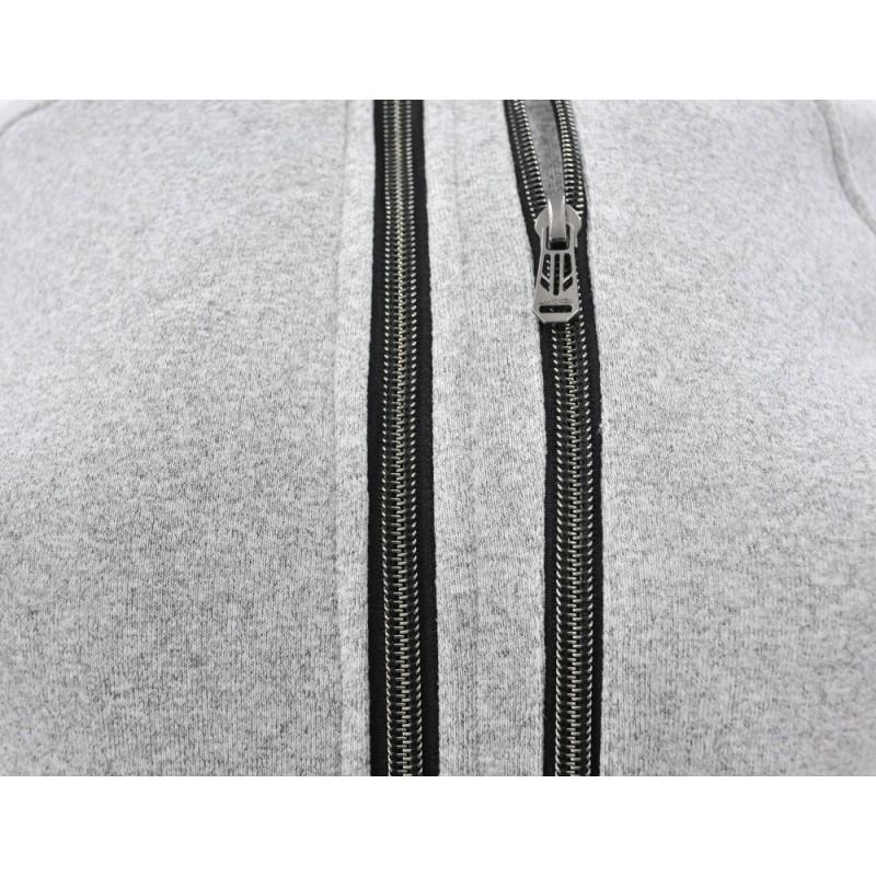 Bluza na stójce z zamkami (j.szara)