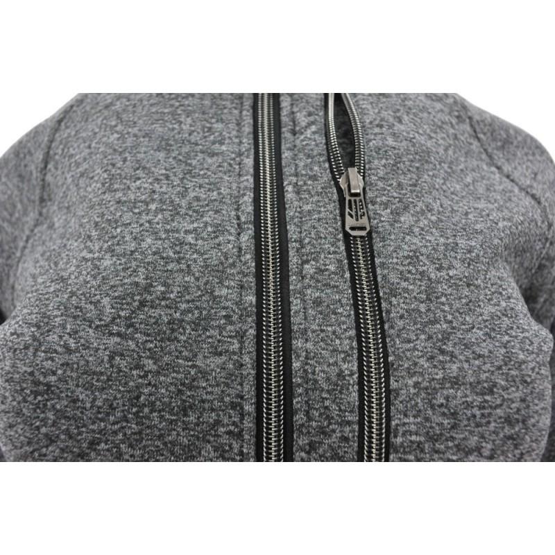 Bluza na stójce z zamkami (c.szara)