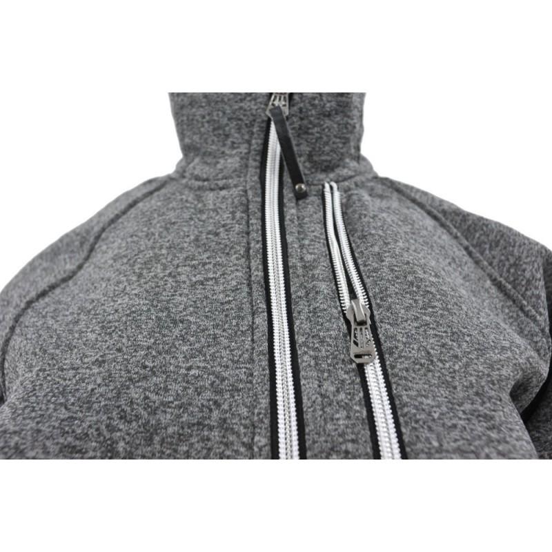 Bluza na stójce z zamkami (c.szara1)