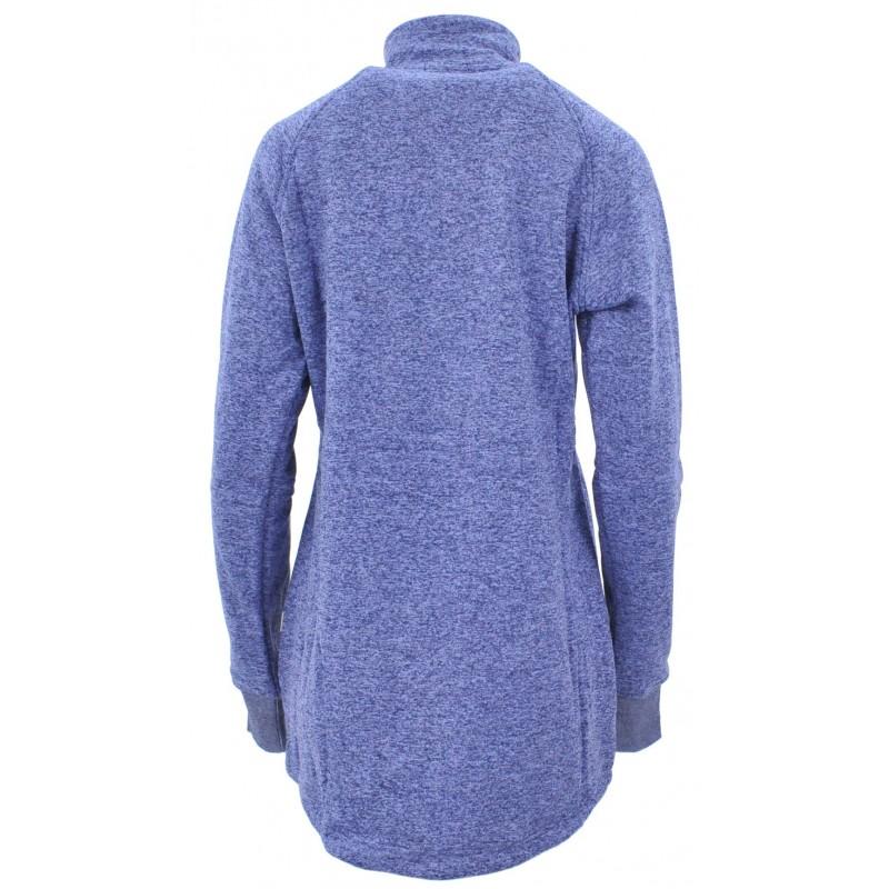 Bluza na stójce z zamkami (niebieska)