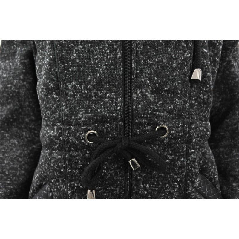 Bluza XL+ z kapturem (czarny melanż)