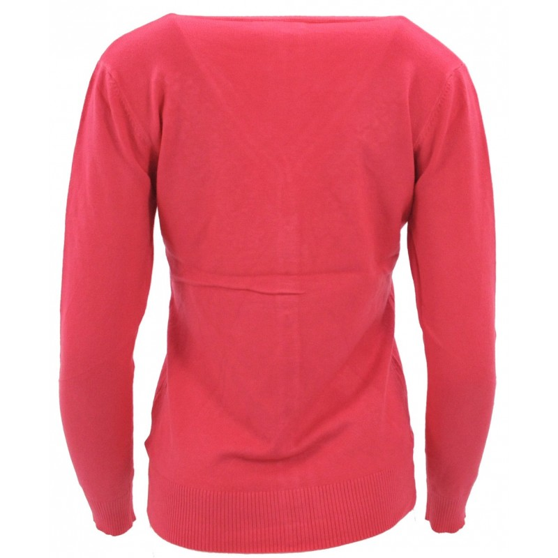 Sweter rozpinany z ozdobnymi kamyczkami (koral)