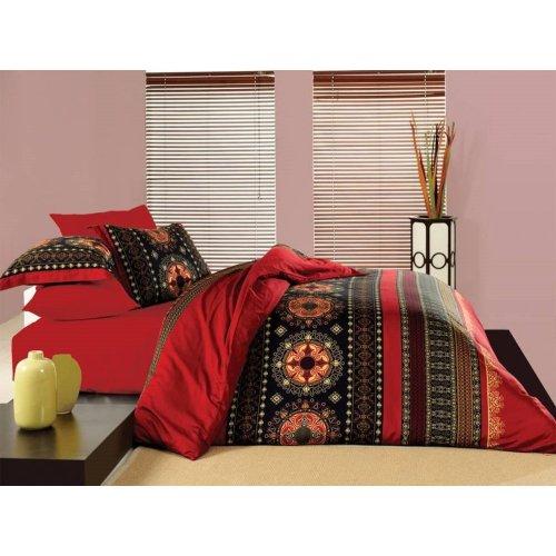 Ekskluzywna pościel na prezent ślubny 160x200 Valentini Bianco Queen-Red Bawełniana Pościel 160x200 dla Par Pościel Valentini