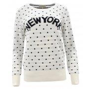 Sweter w kropki NEW YORK (biały)