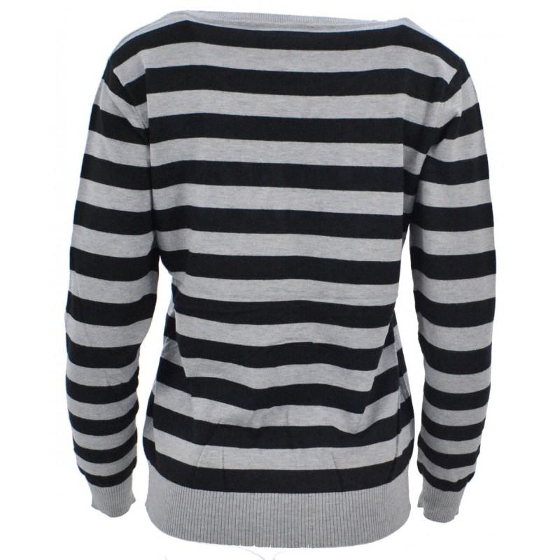 Sweter  w paski CHANGE (szary)