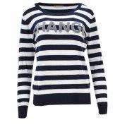 Sweter w paski CHANGE (granatowy)