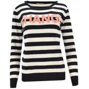 Sweter w paski CHANGE (beżowy)