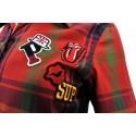Koszula w kratę z aplikacjami 1 (czerwona)
