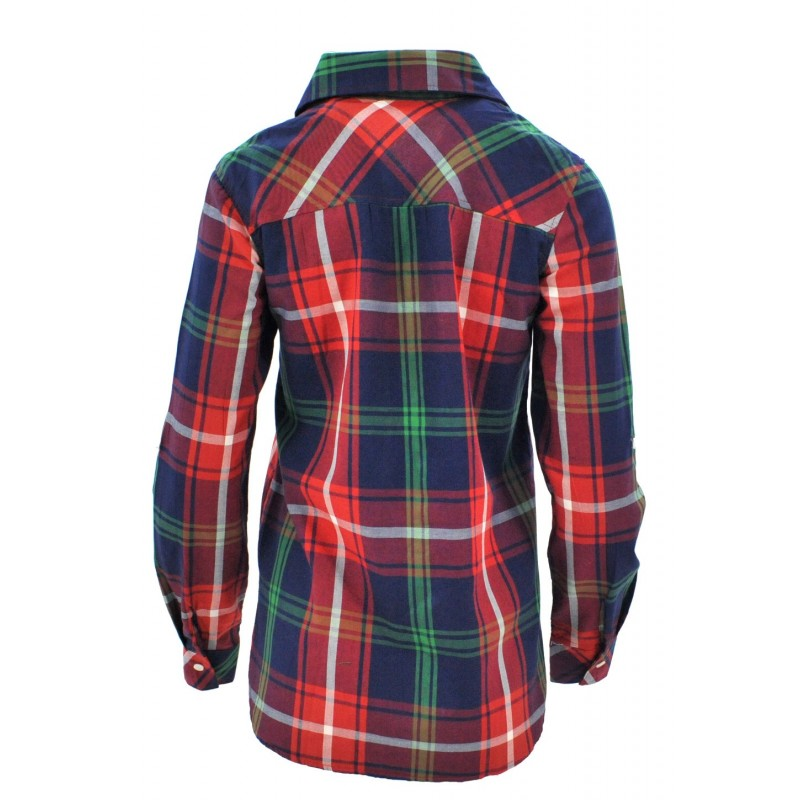 Koszula w kratę z aplikacjami 1 (zielona)