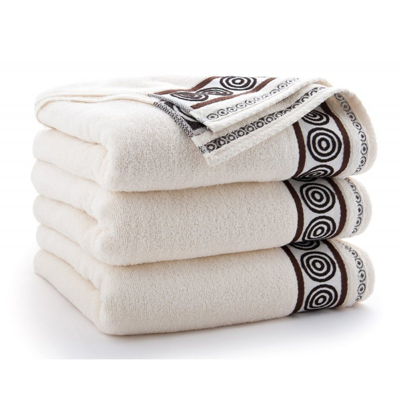 Ręcznik kąpielowy MAŁY 50x90 ECRU łazienkowy frotte