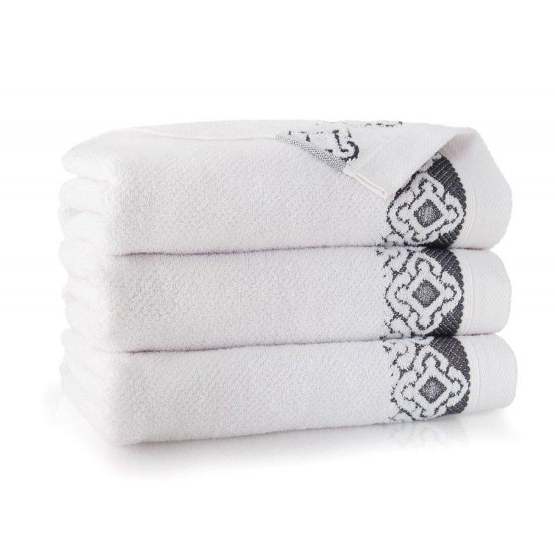 Ręcznik łazienkowy DUŻY 70x140 BIAŁY kąpielowy bawełniany frotte