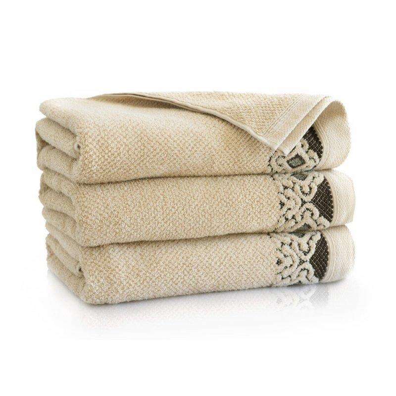 Ręcznik łazienkowy DUŻY 70x140 BEŻOWY kąpielowy bawełniany frotte