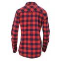 Koszula w kratę 100% bawełna DUŻY ROZMIAR (granatowo-czerwona)