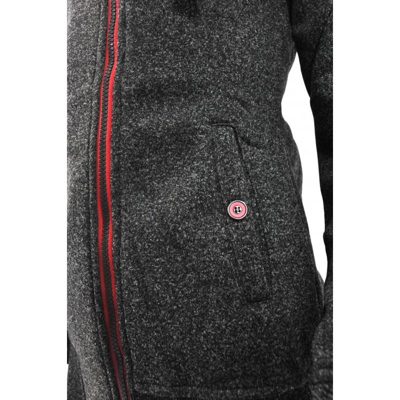 Bluza z zamkiem na boku (czarna melanż)