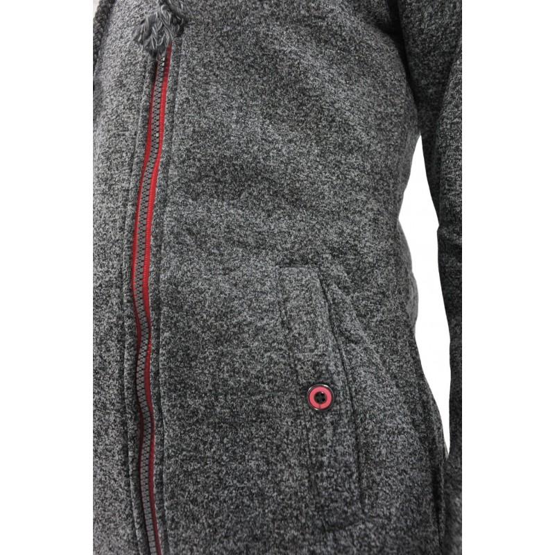 Bluza z zamkiem na boku (ś.melanż)