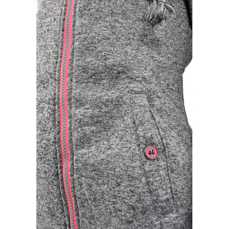 Bluza z zamkiem na boku (j.melanż)