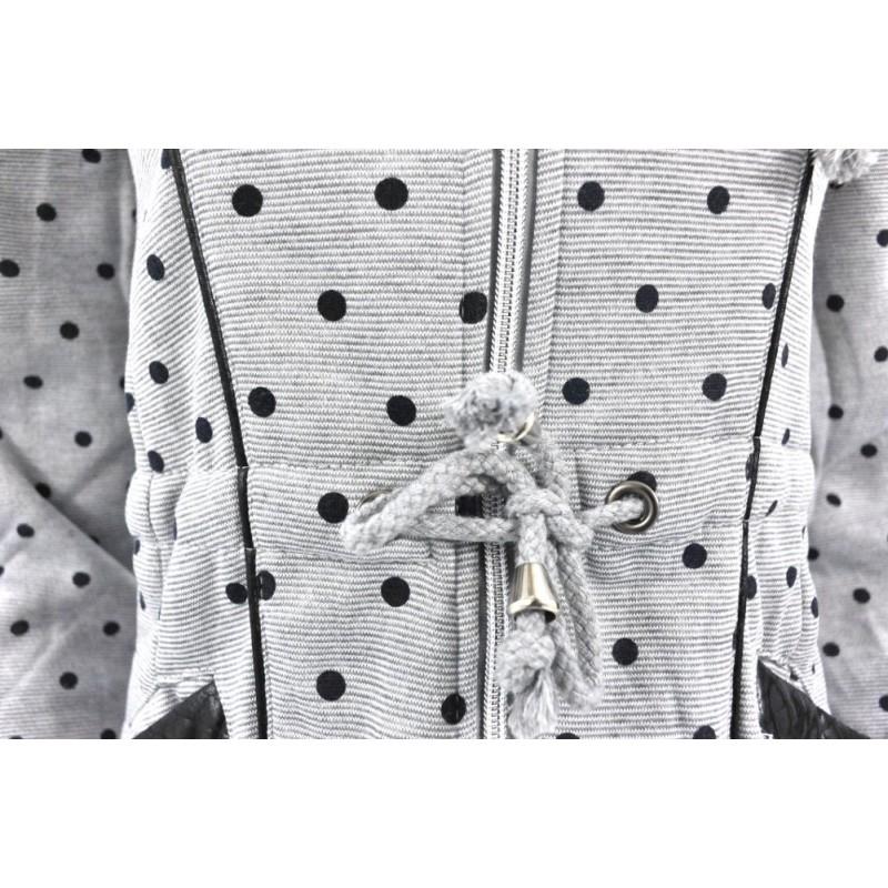 Bluza  w kropki asymetryczna (j.szara)
