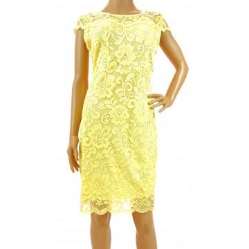Sukienka z koronki (żółta)