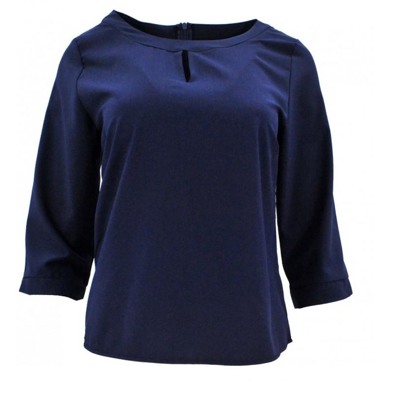 Bluzka/koszula z łezką na biuście (granat)