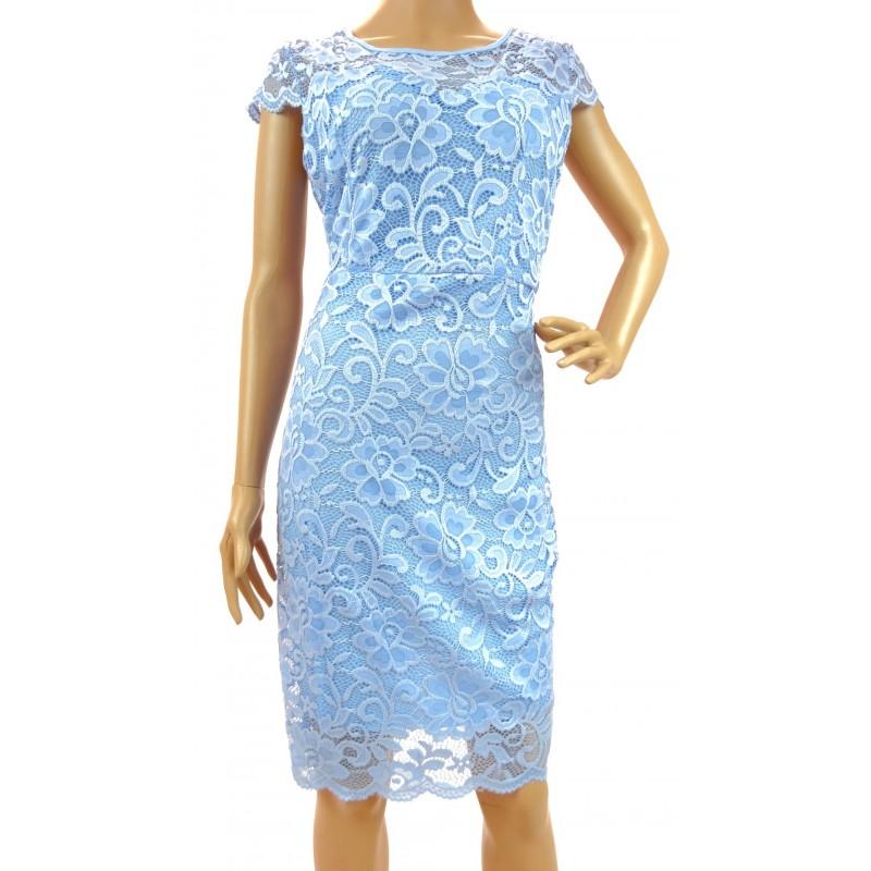 Sukienka z koronki (jasno niebieska)