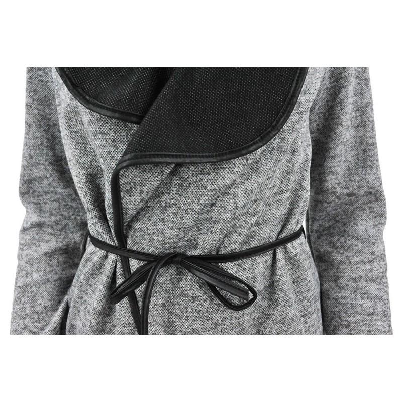 Kardigan sweter WATERFALL (c. szary)