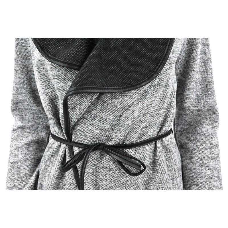Kardigan sweter WATERFALL (j. szary)