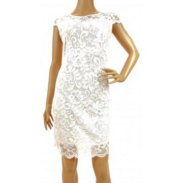 Sukienka z koronki (biała) wzór 1