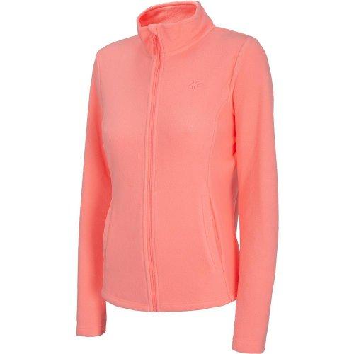 Damska bluza polarowa 4F - NOSH4 PLD001 - koral neon