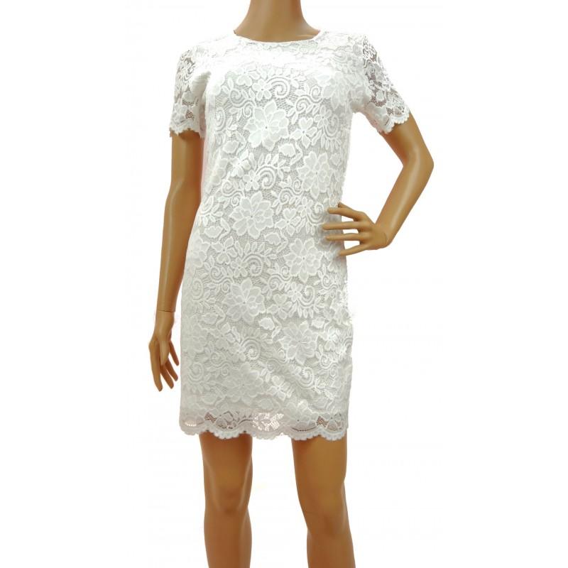 Sukienka z koronki (biała)