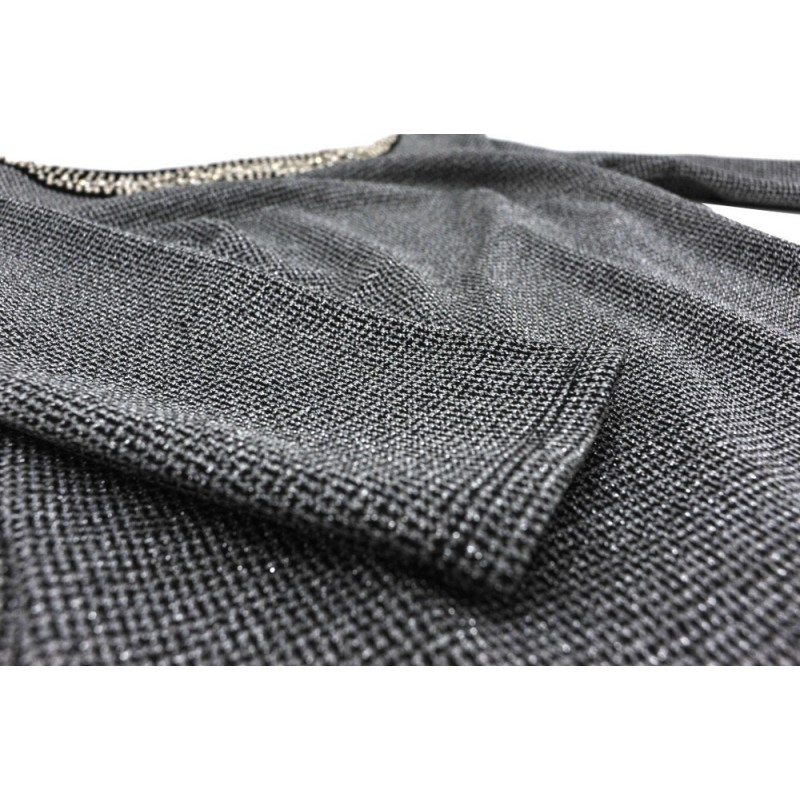 Sukienka ołówkowa z aplikacją (szara)