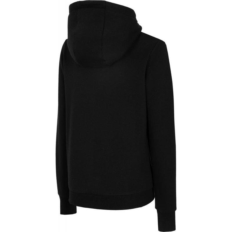 Damska bluza z KAPTUREM 4F BLD004 - czarna