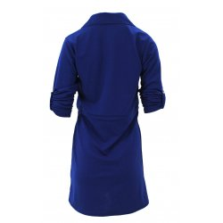 Sukienka z ozdobnymi klapami (szafirowa)