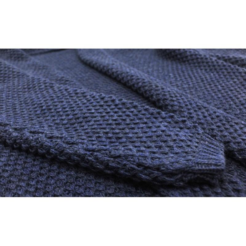 Długi kardigan (niebieski)