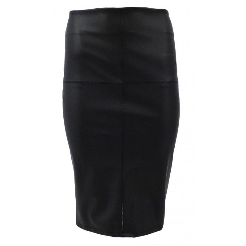 Najnowsze Długa spódnica ołówkowa z ekoskóry (czarna) | eStilex.pl | Modna i BL73