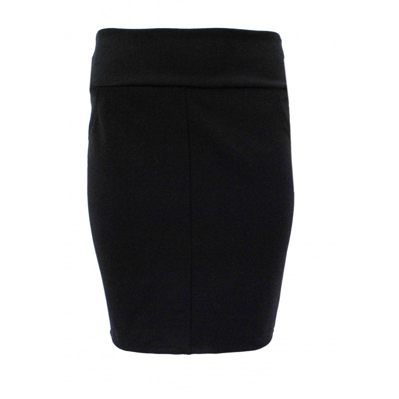 Spódnica ołówkowa z przeszyciem (czarna)