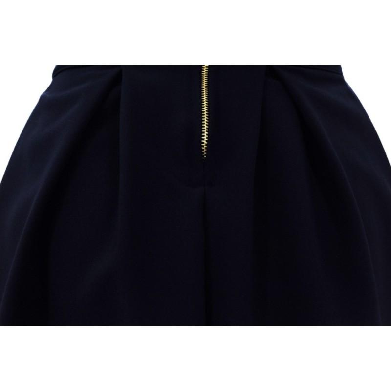 Spódnica rozkloszowana gładka (czarna)