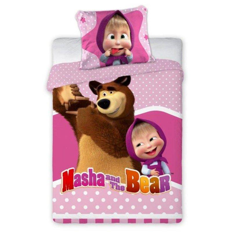 Pościel 100x135 Masza i Niedźwiedź 047 Pościel Masza i Niedźwiedź 135x100 Pościel Masza 100x135 Pościel niemowlęca do łóżeczka