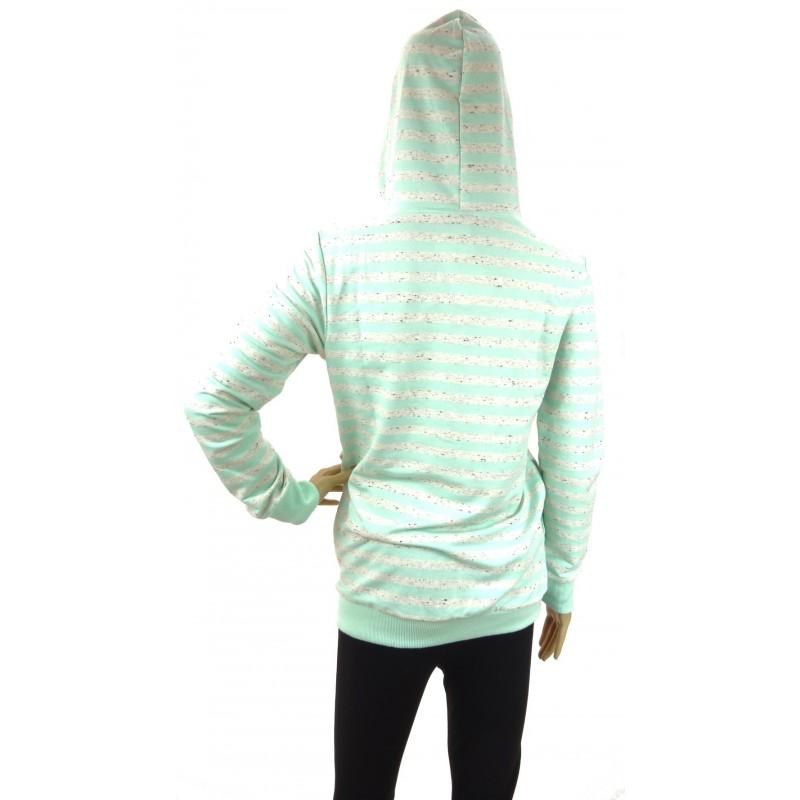 Bluza w paski (miętowa)