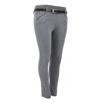 Spodnie eleganckie w drobną jodełkę