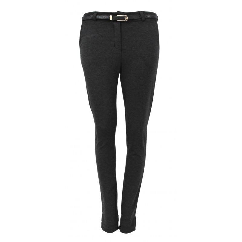Spodnie eleganckie z ciemnej tkaniny