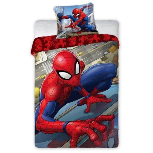 Pościel Spiderman 140x200 100% Bawełna 039 Pościel ze Spidermanem Pościel człowiek pająk Pościel Spider Man Spider-Man