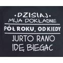 Bluza z napisem DZISIAJ MIJA DOKŁADNIE ROK... (ciemnoniebieska)